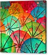Umbrellas Galore Canvas Print