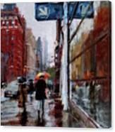 Umbrellas On Amsterdam Aveune Canvas Print