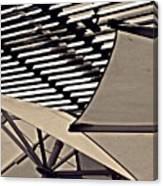Umbrellas Sepia Canvas Print
