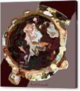 Umbria Florals Timepiece Canvas Print