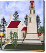 Umpqua River Lighthouse July 2010 Canvas Print