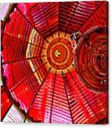 Umpqua River Lighthouse Lens In Hdr Canvas Print