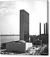 Un Building Under Construction Canvas Print