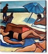Un Journee A La Plage Canvas Print