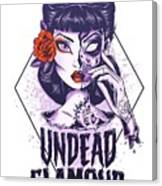 Undead Glamour Canvas Print