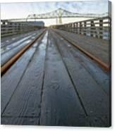 Under Astoria Megler Bridge On Riverwalk Canvas Print