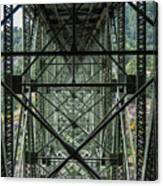 Under Deception Pass Bridge Canvas Print