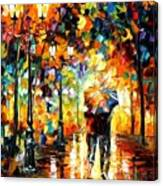 Under One Umbrella Canvas Print