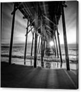 Under The Boardwalk Bw 1 Canvas Print