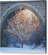 Under The Bridge, A Winter's Song Canvas Print
