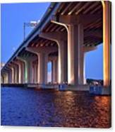 Under The Bridge With Lights 01175 Canvas Print