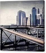 Under The Brooklyn Bridge Canvas Print