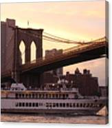 Under The Brooklyn Bridge  Canvas Print