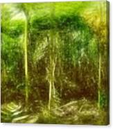 Under The Canopy Of The Antediluvian Forest Canvas Print