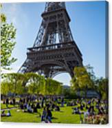 Under The Eiffel Tower, Paris Canvas Print