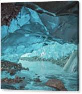 Under The Glacier Canvas Print