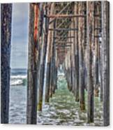 Under The Oceanside Pier Canvas Print