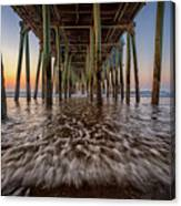 Under The Pier At Old Orchard Beach Canvas Print