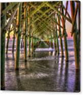 Under The Pier Folly Beach Pier Sunrise Folly Beach Pier Art by Reid  Callaway