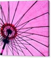 Under The Pink Umbrella Canvas Print