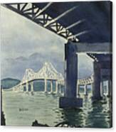 Under The Tappan Zee Bridge Canvas Print