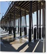 Under The Ventura Pier In Southern California Canvas Print