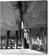 Under The Viaduct A Urban View Canvas Print