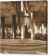 Under The Viaduct B Panoramic Urban View Canvas Print
