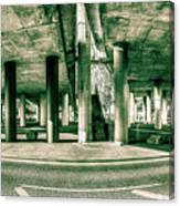 Under The Viaduct C Panoramic Urban View Canvas Print