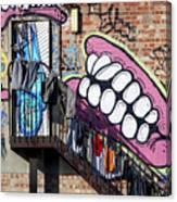 Underteeth The Stairs Canvas Print