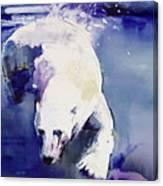 Underwater Bear Canvas Print