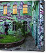 Underwater Graffiti On Studio At Metelkova City Autonomous Cultu Canvas Print