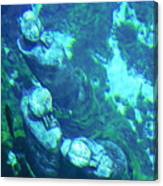 Underwater Statues Canvas Print