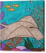 Underwater Stingray Canvas Print