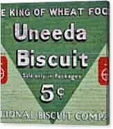 Uneeda Biscuit Vintage Sign Canvas Print