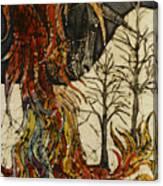 Unicorn And Phoenix Canvas Print