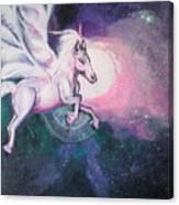 Unicorn And The Universe Canvas Print