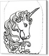 Unicorn Cameo Canvas Print