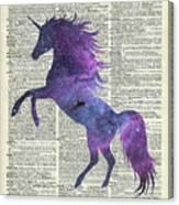 Unicorn In Space Canvas Print