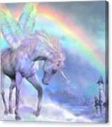 Unicorn Of The Rainbow Canvas Print
