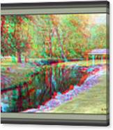 Unicorn Stream - Use Red-cyan 3d Glasses Canvas Print