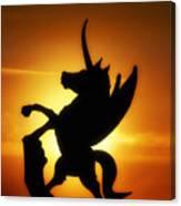 Winged Unicorn Sentinel  Canvas Print