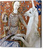 Unicorn Tapestry, 15th C Canvas Print