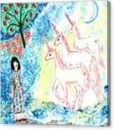 Unicorns Come Home Canvas Print