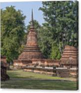Unidentified Wat Wihan And Chedi Dthst0074 Canvas Print