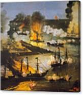 Union Bombardment, 1862 Canvas Print