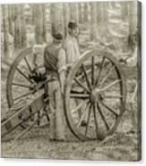 Union Cannon Civil War Sepia Version Canvas Print