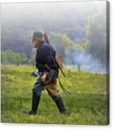Union Cavalryman On Foot Canvas Print