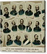 Union Commanders Of The Civil War   Canvas Print