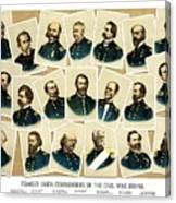 Union Commanders Of The Civil War Canvas Print